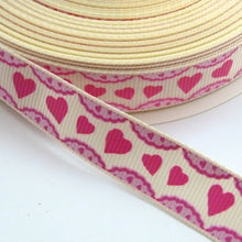 Load image into Gallery viewer, 16mm wide Heart Frill Ribbon