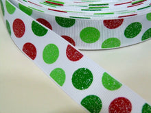 Load image into Gallery viewer, 22mm wide Polka Dot Ribbon