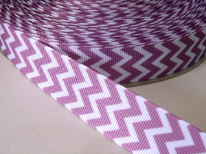 22mm wide Chevron Ribbon