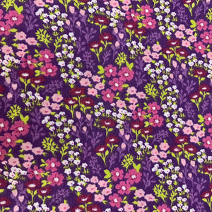 Spring Fabric Felt Sheet - Wildflowers - Purple