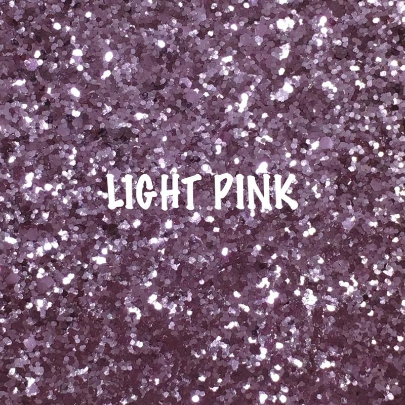 Glitz Chunky Glitter Fabric - Light Pink