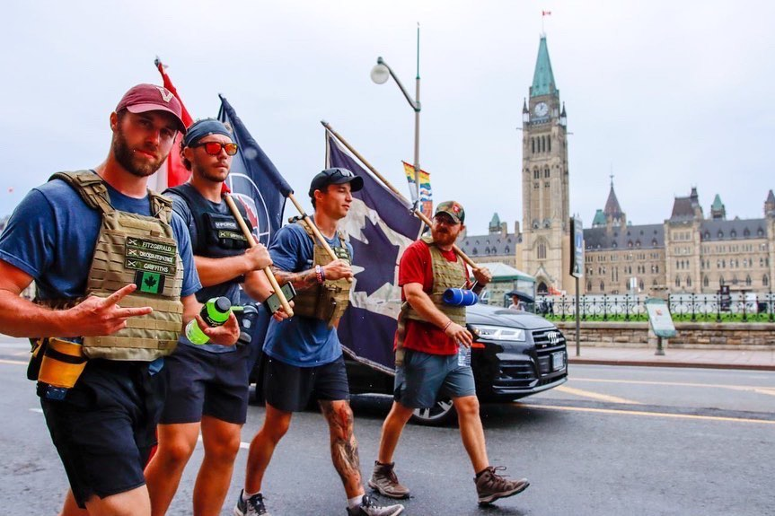 Walk for the Wounded - CFB Petawawa To Parliament Hill, Ottawa, ON