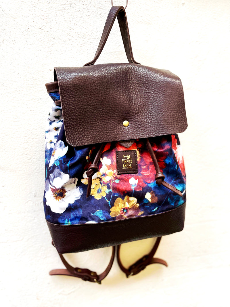 Velvet And Leather Rucksack
