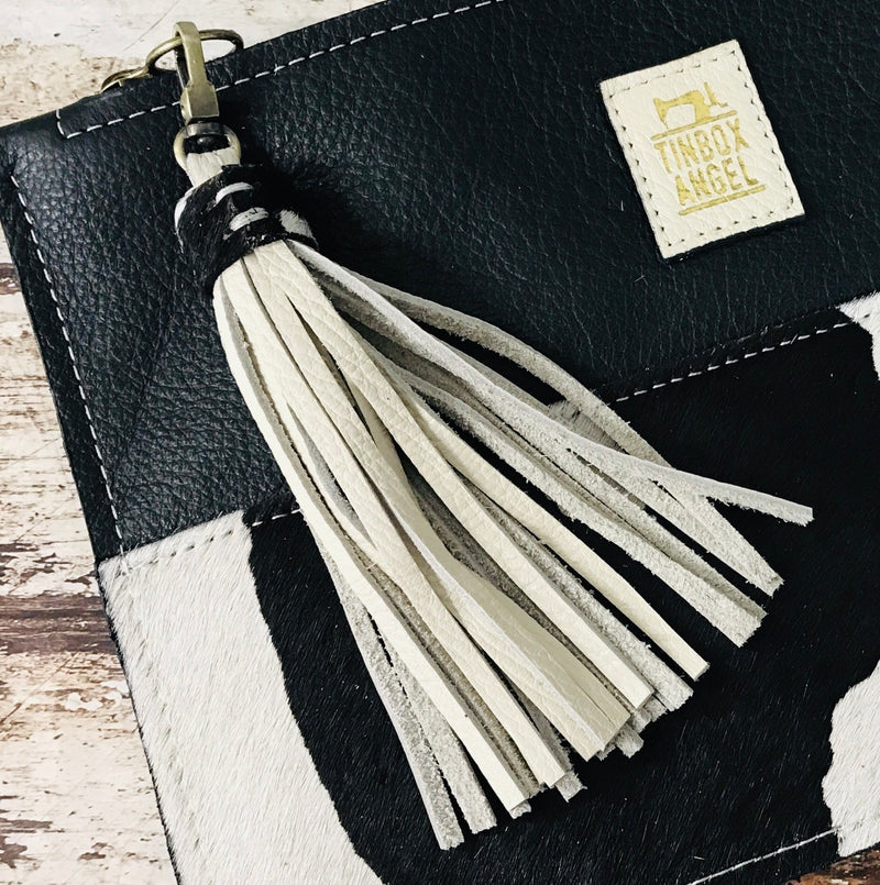 'LOVE' Leather Tassel