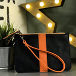 Leather City Wristlet Clutch
