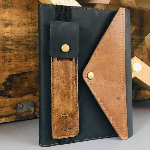 Leather Journal Pen Holder