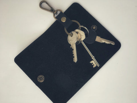 'Crazy Horse' Leather Key Wallet
