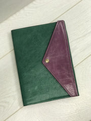 A5 Coloured Leather Journal/Notebook Cover