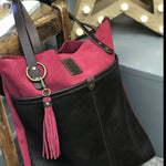 Large Suede Leather Tote Bag