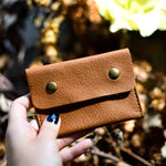 Colorful Leather Studded Coin Purse
