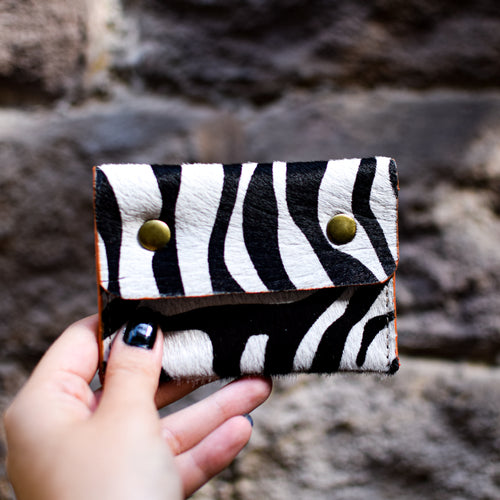 Animal Print Studded Coin Purse