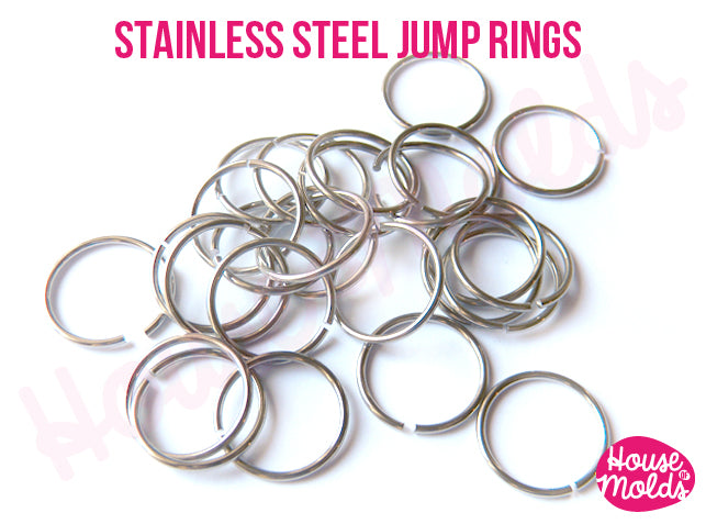 Stainless Steel Open Jump Rings - DIAMETERS TO CHOOSE- very resistant and quickly link your pendant with necklace