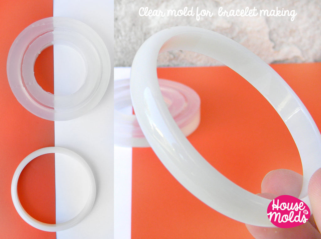 Stackable Thin Bracelet Clear Mold,resin bangle maker mold ,silicone mold 6,8 cm inner diameter bangle