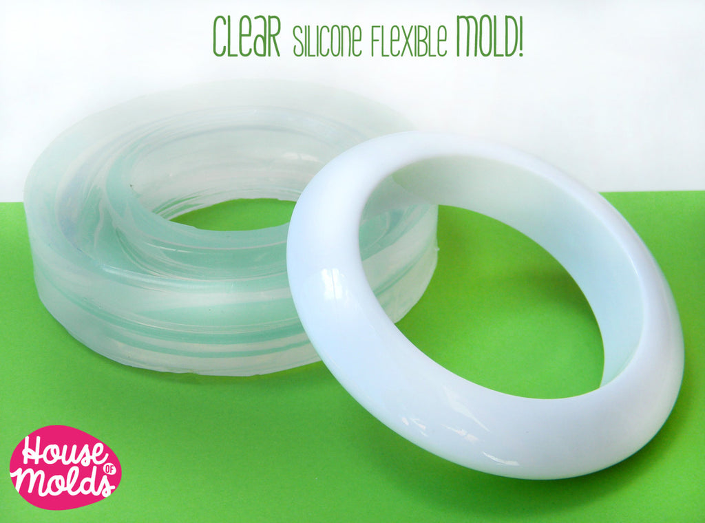 Space Age bangle Clear Mold, 67 mm inner diameter - great effect bold bangle mold - house of molds