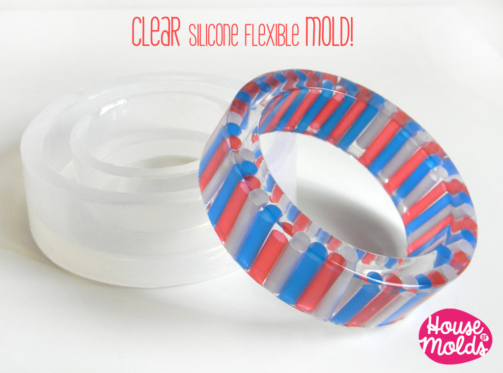 Bold Basic Bangle Clear Mold,resin bangle mold,6,3 cm inner diameter