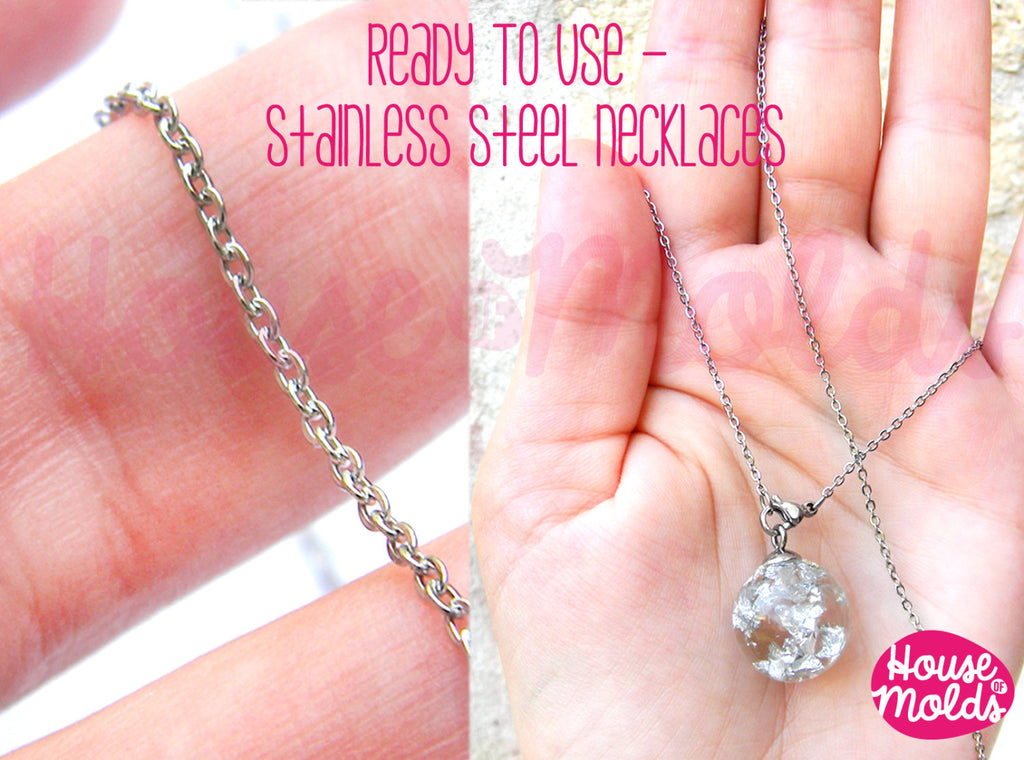 Stainless Steel Necklace ready to Use/wear- chain 1 mm with Lobster Clasp-matinee size 51 cm