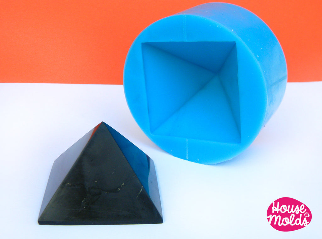 3 cm x side Pyramid ,Mold for 3D Pyramid- from house of molds