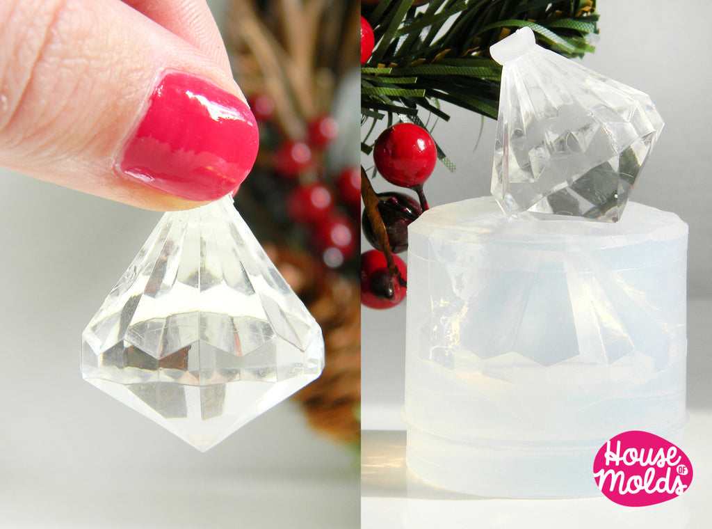 Clear Mold for Diamond 3D Pendant ,Mold for resin accessories or home decorations