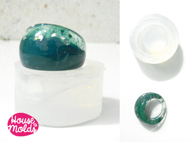 Bold Modern Ring Clear Mold , USA Size 9 1/4 ring mold,clear mold to make resin rings,super shiny results!