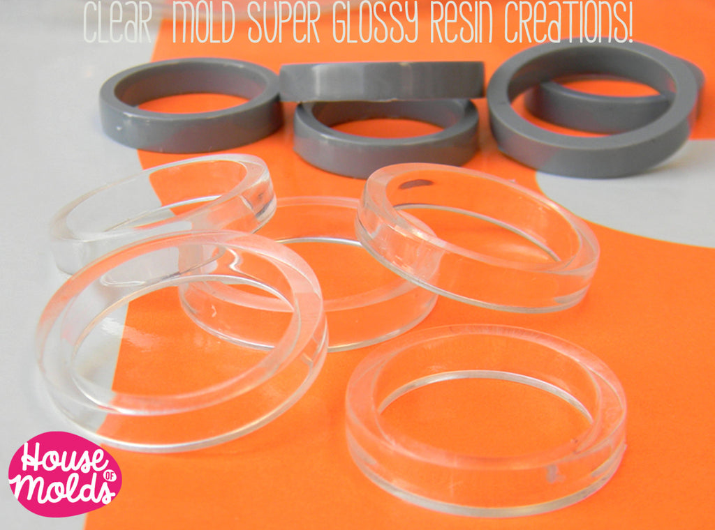 Mens Band Rings 5 Sizes Clear Mold,Mold for Multisize Band rings usa sizes 10,11,12,13,14 ,big band rings resin mold,transparent rubber