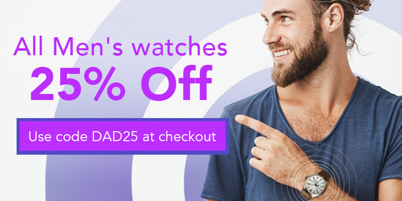 All Men's Watches 25% OFF