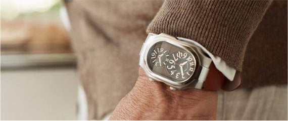 Man wearing a natural frequency technology watch