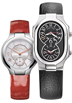 Two Natrual Frequency Watches with red and black straps