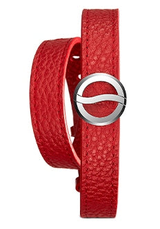 Wellness bracelet with a red strap