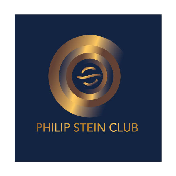 Philip Stein Club - Gold with Dark Blue Background