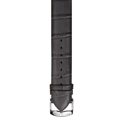Dark Grey Leather Alligator Print Strap - Model 1-CALMGR