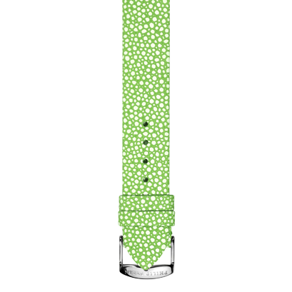 Green Leather Galuchat Print Strap -  Model 1-CGAG