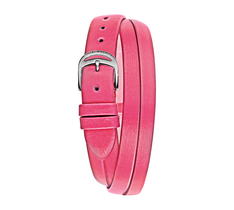 Pink Double Wrap Around Silk Strap - Model 14-IPDW