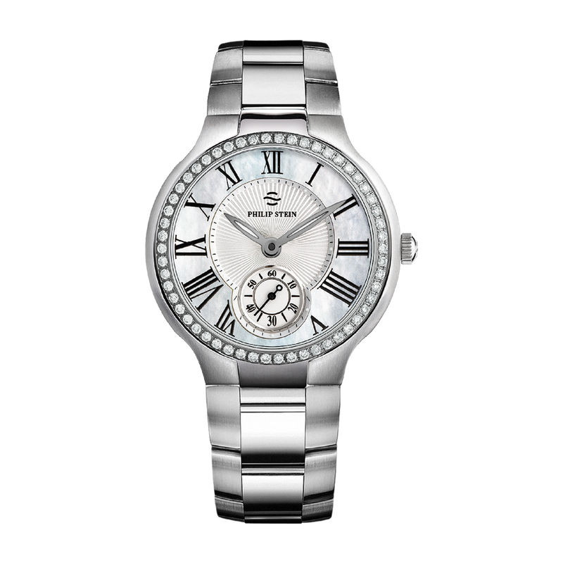 Classic Round Large 42mm Mother of Pearl Watch - Model 42D-CMOP-IB