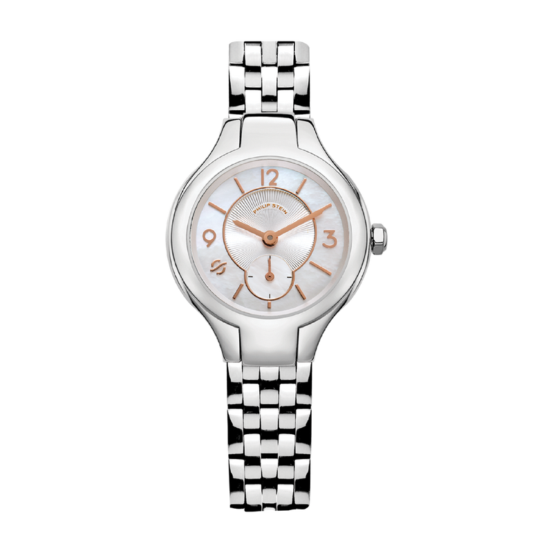 Classic Round Mini  32mm Mother of Pearl Watch - Model 44-RGMOP-IBG