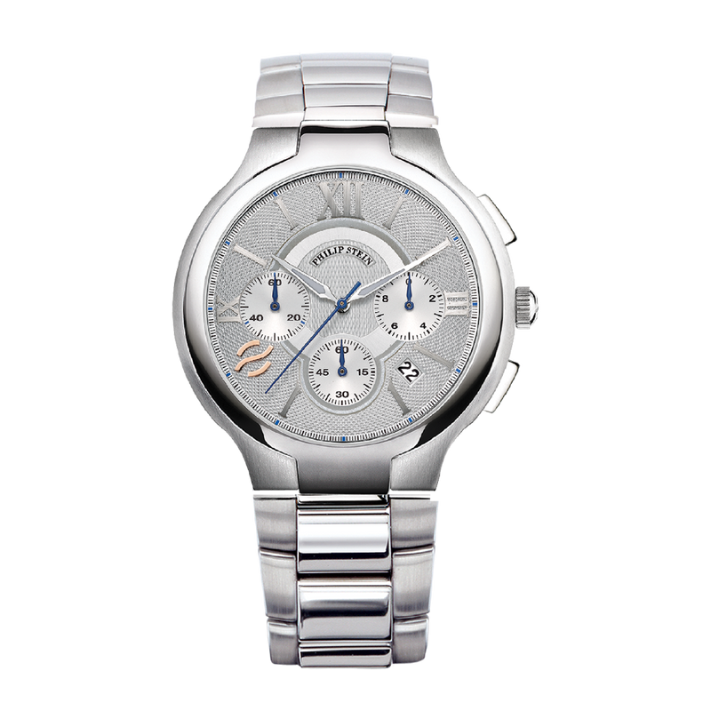 Classic Round Chronograph 45mm Silver Watch - Model 45-CRSIL-CB
