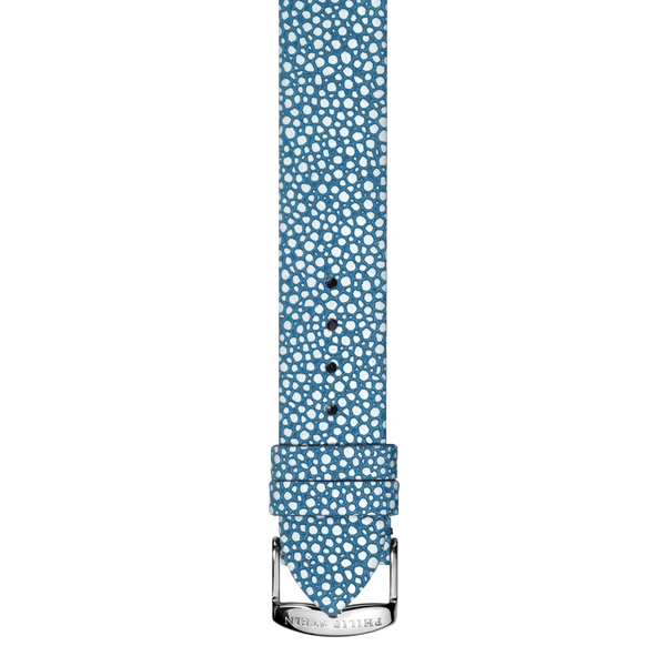 Blue Leather Galuchat Print Strap - Model 1-CGABL