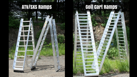 ATV vs. Golf Cart Loading Ramp Rungs