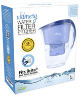 Water Filter Pitcher 6 Cups. Super Slim to fit any refigerator door. WQA Certified.