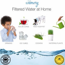 Water Filter Pitcher 8 Cup with LED indicator. WQA Certified removing hard metals