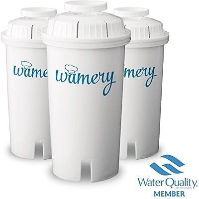 Water Filter Replacement 3Pack. Fits Brita, Pur and most Pitchers. WQA Certificate