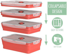 Collapsible Silicone Food Container, Airtight, BPA Free