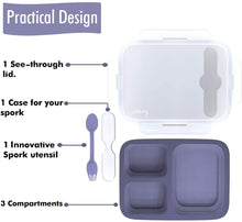 Collapsible Silicone Bento Box, Airtight, Leakproof, BPA Free