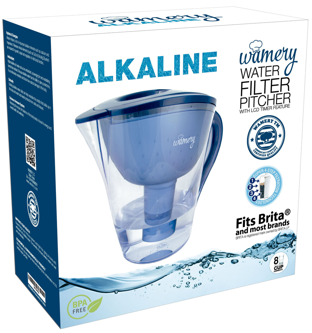 Alkaline Orchid Water Pitcher, 2 Liters + FREE Filter