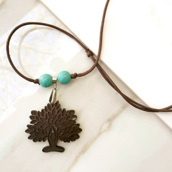 Yoga Necklace - Lotus Tree