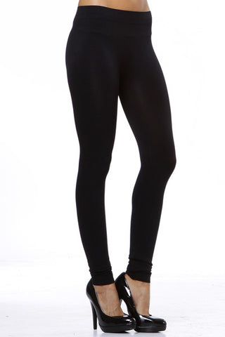 Seamless black navy thick leggings