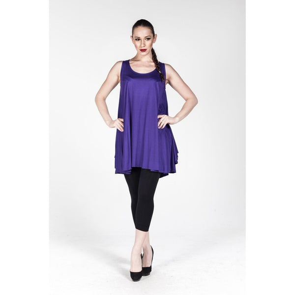 Plus size Purple Loose Fit Tunic