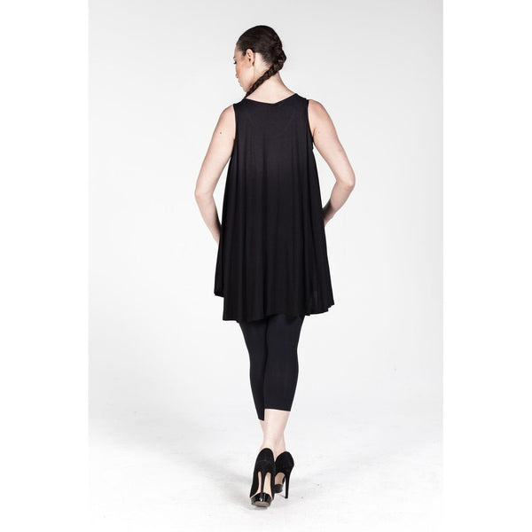 Plus size Black Loose Fit Tunic