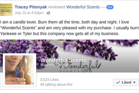 Wonderful Scents Customer Review Candles Soy
