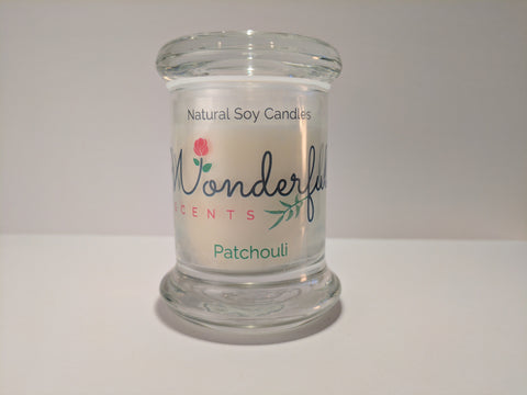 Wonderful Scents Patchouli Scented Soy Wax Candle