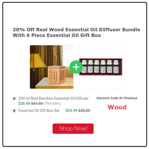 Wonderful Scents Real Wood Essential Oil Gift Set Sale